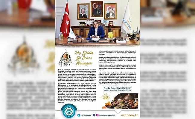 Rektör Karabulut'tan Ramazan Ayı mesajı