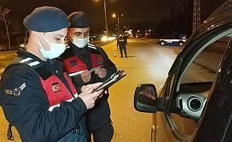 Samsun'da jandarmadan sokağa çıkma kısıtlamasında denetim