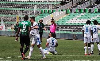 Süper Lig: Denizlispor: 0 - BB Erzurumspor: 1 (İlk yarı)