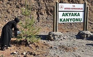 Akyaka Kanyonu kadın eli değdi