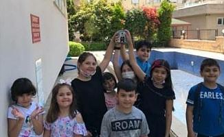 Alanya'da çocuklardan Ahmet bebeğe destek
