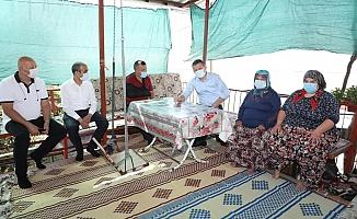 Alanya Kaymakamı Ürkmezer'den şehit ailelerine ziyaret