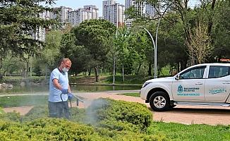 Başakşehir'de çim sineği ilaçlaması yapıldı