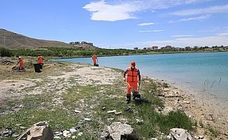 Battalgazi'deki göletler temizleniyor