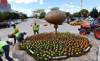 Devlet Hastanesi çiçeklerle bezendi