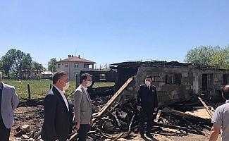 Evleri hasar gören ailelere bayram ziyareti