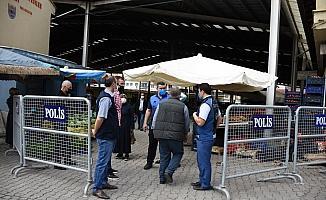 İskilip'te sebze pazarı kuruldu