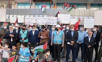 İsrail zulmü Bitlis'te kınandı