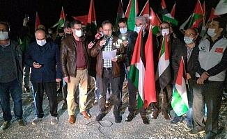 Kütahya'da Filistin'e destek konvoyu