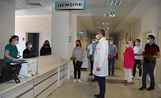 Lakadamyalı sağlık çalışanlarıyla buluştu