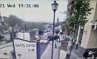 (Özel) İstanbul'da lüks sitede kazma ve silahlı kavga kamerada