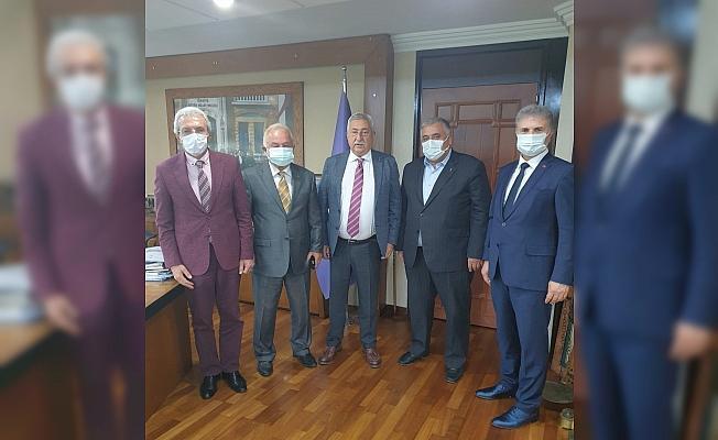 TESK'i ziyaret ederek taleplerini aktaran ÇESOB Başkanı Recep Gür: