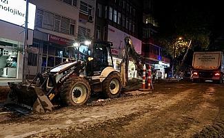 Trabzon'da kent merkezindeki alt yapı çalışmalarında sona geliniyor