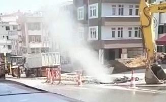 Trabzon'da patlayan doğalgaz borusu paniğe neden oldu