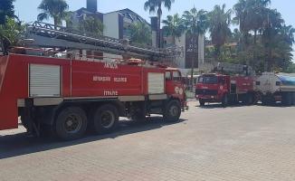 Alanya'da otelde yangın paniği