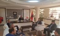 Başkan Toklu ve ekibi Müdür Çakmaklı'yı ziyaret etti