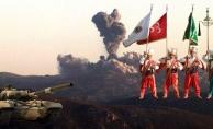 Mehmetçik Mehter eşliğinde Afrin'i bombalıyor