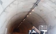 Dimçayı Tüneli aydınlatıldı