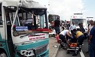 Kestel'de facia gibi kaza: 10 yaralı