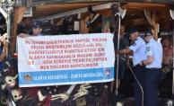 Alanya'da 14 işyeri ve 2 tekne hanutçuluktan mühürlendi