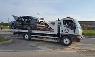 Alanya'da 2 otomobilin çarpıştığı kazada 5 kişi yaralandı