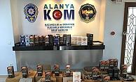 Alanya'da 359 litre kaçak içki ele geçirildi