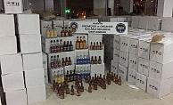 Mahmutlar'da kaçak ve sahte içki operasyonu