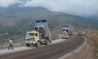 Büyükşehir Alanya Fakırcalı yolunu asfaltlıyor