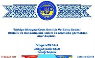 Büyükşehir'in katkılarıyla  Türk-Ukrayna-Kırım Gecesi