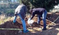 Ceset gömüldü ihbarı Alanya polisini harekete geçirdi!