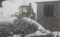Kara kışa rağmen Alanya'nın kırsalında araklıksız çalışma