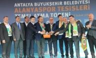 Alanyaspor Tesisleri'nin temeli Bakan Çavuşoğlu'nun katılımıyla atıldı