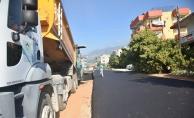 Alanya Belediyesi o yolları asfaltladı
