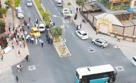 Alanya'da otomobiller çarpıştı: 2 yaralı
