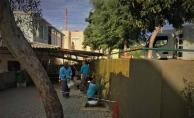 Oba ilkokulu çevre duvarı yenileniyor