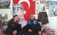 Alanya'nın şehidi Nazilli'nin ailesine ziyaret