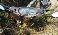 Alanya'da motosiklet su kanalına uçtu: 2 yaralı