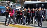 Alanya'da yakalanan 2'si kadın 8 yasadışı bahis şüphelisi adliyede