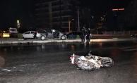 Mahmutlar'da motosikletle otomobil çarpıştı: 1 yaralı