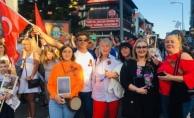 Alanya'daki yerleşik Ruslar Zafer Gününü kutladı