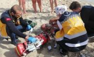 Alanya'da Rus turist son anda kurtuldu
