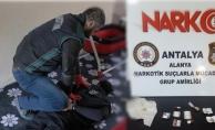 Alanya'da eve yapılan baskında uyuşturucu taciri yakalandı