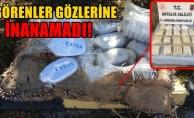 Alanya'da sahile bir çuval uyuşturucu vurdu!