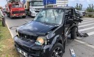 Alanya'da yaya geçidinde kaza: 2 yaralı