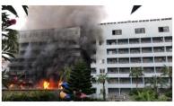 Alanya'da otelin disko bölümünde yangın paniği!