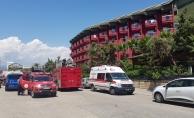Alanya'da otel yangını! Disko cayır cayır yandı