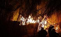 Alanya'da kulübede yangın paniği!