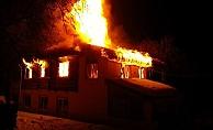 Alanya'da müstakil evde yangın paniği!