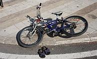 Otomobil bisikletli çocuğa çarptı: 1 yaralı