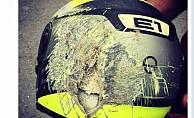 Vali Karaloğlu parçalanmış kaskpaylaşarak kazalara dikkat çekti